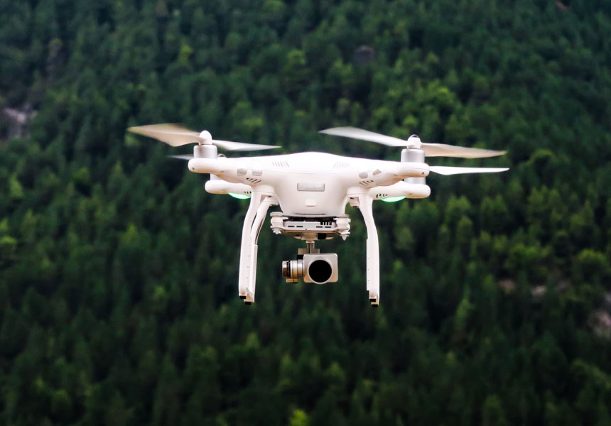 drone with a camera