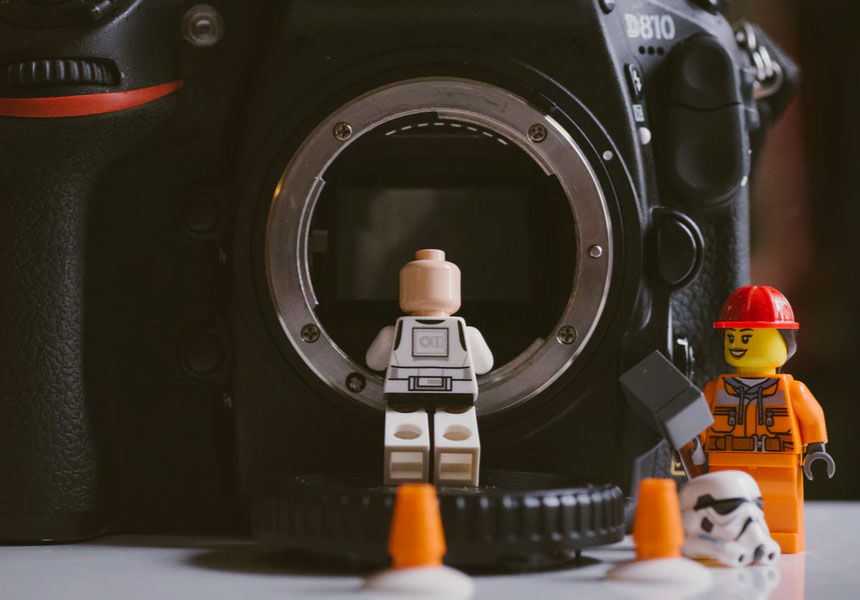 lego men using camera